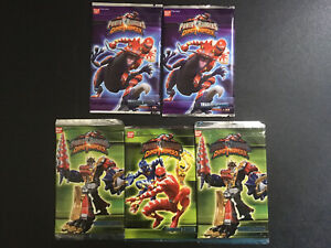 5 Brand New Early 2000s Power Rangers Dino Thunder Card Packs Mixed Series