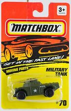 Matchbox MB 70 Military Tank Weasel Olive Green New On Card 1994
