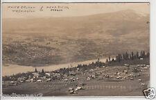 RPPC -Hood River, OR & White Salmon, WA - Birdseye Town Views - early 1900s