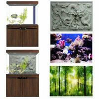 3D Effect Aquarium Background Green Forest Fish Tank Landscape Poster Decoration