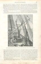 Equipage & Schéma de l'Accumulateur du Mode de Suspension du Chalut GRAVURE 1888