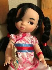 """Mulan ~ Disney Princess ~ Vintage ~ 15"""" Tall ~ All Original Clothing And Dog!"""