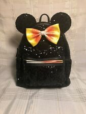 Disney Parks Halloween Minnie Mouse Candy Corn Mini Loungefly Backpack Pre-Owned