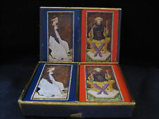 VINTAGE CONGRESS #606 PLAYING CARDS COMPLETE DECKS KING OF CLUBS QUEEN OF SWORDS