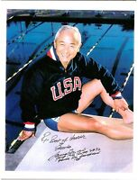 """Sammy Lee, Olympic Diver, Signed 8 1/2"""" x 11"""" Color Photo, COA, UACC RD 036"""