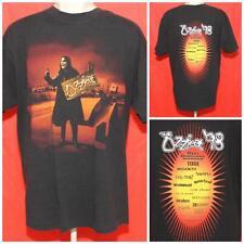 "Vintage Ozzfest 98 Ozzy Osbourne Tool Megadeath XL Black  Tshirt 23.5"" Pit2Pit"