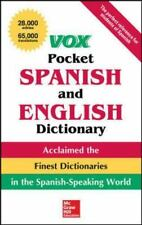 Vox Pocket Spanish-English Dictionary by Vox Staff (2010, Paperback)