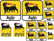 12x AGIP ENI DECAL SHEET STICKERS APRILIA DUCATI SPONSOR