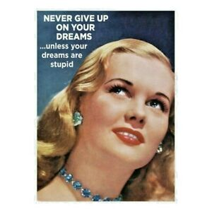 Never Give Up On Your Dreams Fridge Magnet