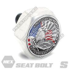 Polished Hex  - Billet Aluminum Seat To Fender Bolt for Harley - 911 IN MEMORY