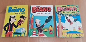 3 Beano Books from 1970's, - 1973, 1974 and 1977