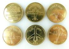 6 Medaillen: 30 Jahre zivile Luftfahrt der DDR Interflug IL14, AN24, IL14, e1730