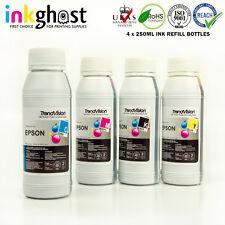 Inkghost 4x 250ml 252 Refill Ink for Epson Workforce WF3620 WF3640 WF7610 WF7620