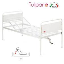 Letto articolato Tulipano per disabili - 1 snodo e 1 Manovella Moretti