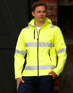 A.I.W Hi-Vis Heavy Duty Softshell Jacket with 3M ScotchliteTM Reflective Tapes