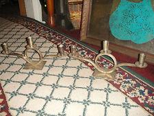 Restoration Hardware Candlestick Holders-Pair-India-Artistic Design-Silver Metal