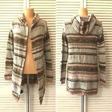 American Rag Womens Duster Medium Open Front Knit Sweater Crochet Long Sleeve