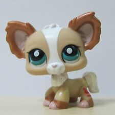 Littlest Pet Shop LPS Figure #1082 Shimmer Glitter Tan White Chihuahua Puppy Dog