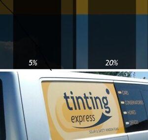 PRO CAR WINDOW TINTING FILM ROLLS PART OR FULL 5% 20% VLT