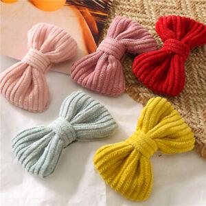 Cute Bow Hairpin Soft Cotton Baby Girls Bowknot BB Clip Hair Clips Hair Claw 1Pc
