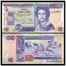 Belize $2 2014 QEII (UNC) 全新 伯利兹 2元 纸币 2014年 DN382977