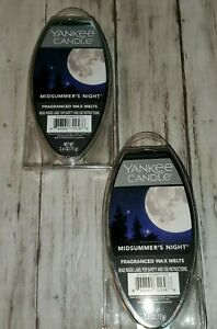 (2) Yankee Candle Midsummer's Night Fragranced Wax Melts Crisp Clean Forest