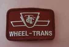 TTC Wheel-Trans - Toronto Transit Commission Logo New Patch