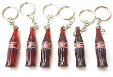 Lot 6 coca cola coke bottle key chain keychain vintage dollhouse miniature gift