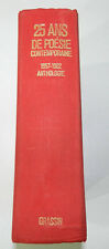 25 ANS DE POESIE CONTEMPORAINE - 1957-1982 - ANTHOLOGIE - EDITION ORIGINALE 1983