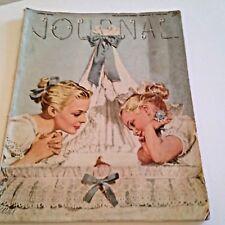 Vtg Ladies Home Journal June 1946 Ads Fashion Deco Nouveau Collage Art Media