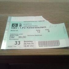 Ticket HSV - 1 FC Kaiserslautern , Sammelkarte, Hamburger SV, Ultras, 1999, FCK