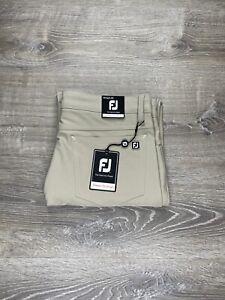Footjoy Athletic Fit Performance Stretch Golf Pants Men's Sz 32 X 30 Khaki Beige