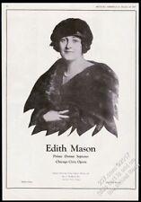 1927 Edith Mason photo opera singing recital tour booking vintage trade print ad