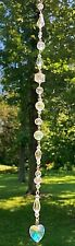 "CRYSTAL SUNCATCHER-PRISMS-MEDITATIONAL-SPARKLING-10.5""-HANDCRAFTED- # 941"