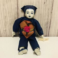 Vintage Chinese Ceremonial Suchada Doll Porcelain Head Cloth Body With Outfit