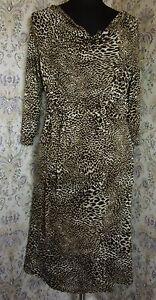 Animal print dress by PRINCIPLES by BEN DE LISI Size 14 Black & brown