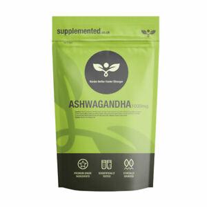 Ashwagandha Root Extract 1000mg 180 Tablets Vegan KSM66 Stress Supplement