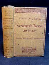 LES PRINCIPALES PUISSANCES DU MONDE  83 gravures et 119 cartes - GÉOGRAPHIE 1911