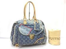 """Auth LOUIS VUITTON Limited Edition Monogram Denim Patchwork Hand Bag 8J120420m"""""""