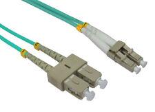 Om3 Fibre Optic LC SC Duplex Mm 50 125 Patch LSZH Cable 1m Orange