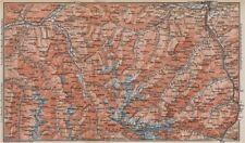 STUBAIER ALPEN. Stubaital Ötztal Pitztal. Solden Kühtai Innsbruck  1899 map