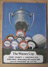 SHEFFIELD UNITED v CLOUGHS DERBY FC AUG 1970 WATNEY CUP SEMI - CURRIE, MACKAY,