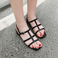 New  Women Sandals Peep Toe Flat Girl Sandals Slingback New Lady Shoes Plus size