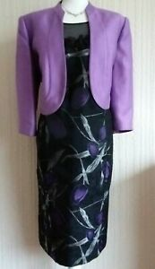 Jacques Vert Purple Bolero and Dress Suit, size 18