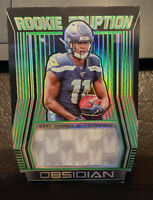 GARY JENNINGS Jr. 2019 Obsidian Rookie Eruption Die Cut Jersey 19 /25 Seahawks