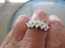 14k YELLOW GOLD PRINCESS CUT DIAMOND RING  2 CTS SIZE 7