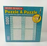 New Word Search Puzzle A Puzzle 500 piece Jigsaw Write on and Wipe off SCHMID