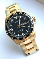 Accurist Mens Stainless Steel Gold Coloured Watch MB1044B CAL.2105
