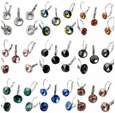 Unbranded Leverback Crystal Alloy Costume Earrings