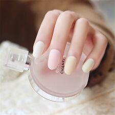 Matte Light Color Women False French Nails 24 Pcs Acrylic Fake Nails Tips Art
